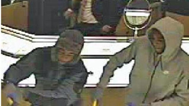 Security images show the suspects in a Dec. 15, 2014, smash-and-grab robbery at a Crabtree Valley Mall jewelry store.
