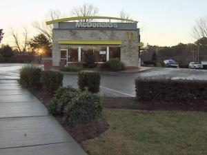 An employee at a McDonald's on Capital Boulevard suffered minor injuries early Wednesday during an attempted armed robbery, Raleigh police said.