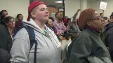 IMAGE: Protesters interrupt Durham City Council meeting