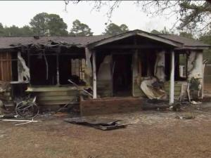 A Dec. 21, 2014, fire destroyed a home on Selma Drive outside Fayetteville and badly burned an 8-year-old boy inside.