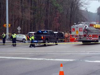One person was killed and two others injured in a four-vehicle crash at Morreene and Erwin roads in Durham on Dec. 22, 2014.