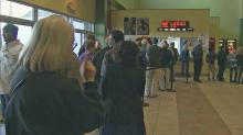 IMAGE: Durham movie-goers line up for 'The Interview'