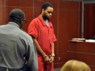 Steven Daniel Blue makes his initial Wake County court appearance on Dec. 26, 2014, on charges that his killed his 2-year-old son, Tristan Blue.