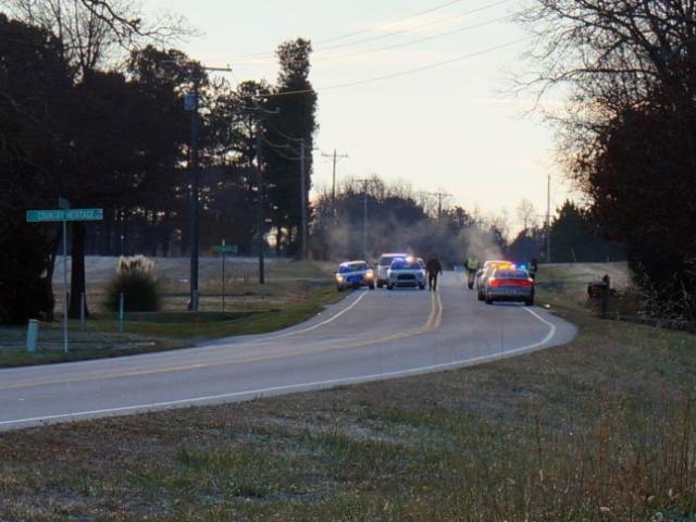 A pedestrian was killed Dec. 26, 2014, on N.C. Highway 96 at Bird Dog Lane, east of Wake Forest.<br/>Photographer: Jamie Munden