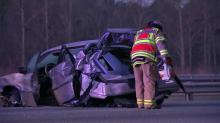 IMAGES: Two injured in three-vehicle crash on I-40 in Morrisville