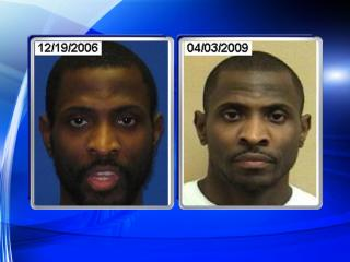 Mug shots of Rodney Jermain Wilson from arrests in 2006 and 2009.