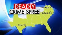 Multi-state crime spree map