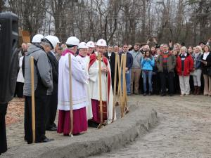 The Catholic Diocese of Raleigh broke ground Saturday, Jan. 3, 2015, on a cathedral in southwest Raleigh that will seat 2,000 worshippers when it's finished.