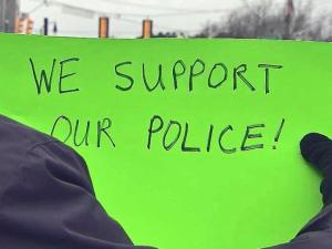 Communities show support for local police.