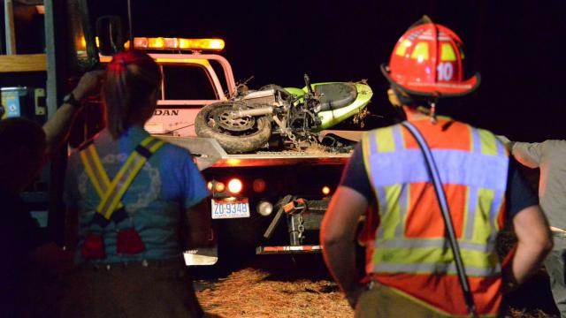 A 51-year-old man was killed Sunday afternoon after the motorcycle he was riding crashed on Tedder Road near Kenly. (John Payne/WRAL Contributor)