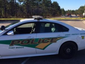 Fort Bragg police block traffic onto Honeycutt Road following a fatal wreck that killed a man on Jan. 6, 2015.