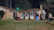 IMAGES: Space heater sparks fire at Durham home; 2 dogs rescued