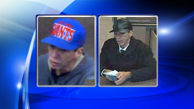 The photo on the left is a suspect wanted in connection with a Dec. 8, 2014, bank robbery at a Wells Fargo branch at 2600 Hillsborough St. in Raleigh. The photo on the right is of a man wanted in the Jan. 8, 2015, robbery of a Wells Fargo, about a mile away, at 601 Oberlin Road.