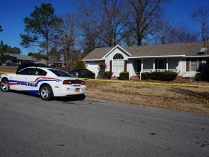 Fayetteville police said a wife accidentally shot her husband, thinking he was an intruder at their home on Christian Street.
