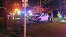 IMAGES: Man found shot inside crashed car in Durham