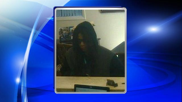 A man wearing a wig and sunglasses robbed a First Citizens Bank branch at 126 Broadfoot Ave. in Fayetteville on Jan. 20, 2015.
