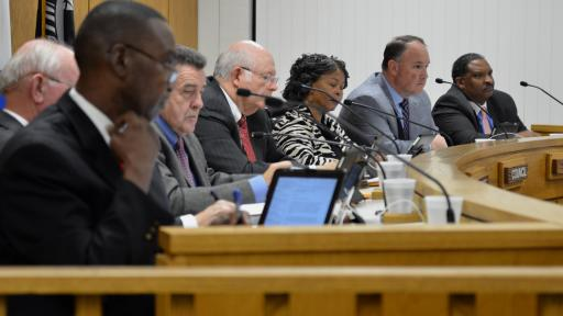 After the Cumberland County Board of Commissioners voted 4-3 against a public hearing regarding a $2.5 million incentive package for a Sanderson Farms, the body reversed their decision Tuesday night - also by a 4-3 vote. (Adam Owens/WRAL)