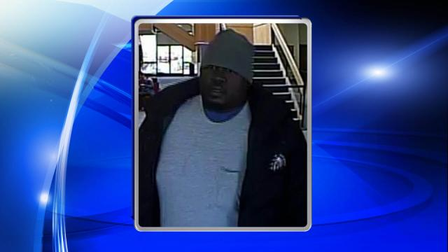 An image from a security camera shows a man suspected of trying to rob a Bank of America branch in Cross Creek Mall in Fayetteville on Jan. 27, 2015.