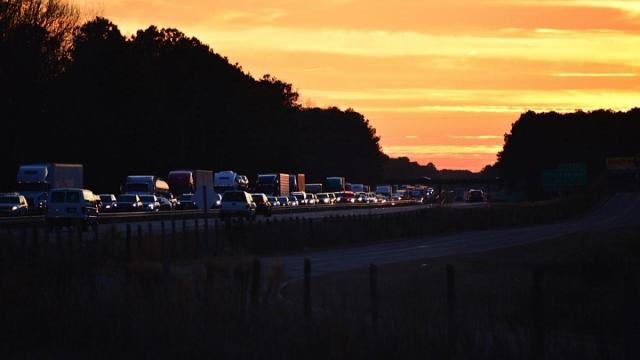 A crash shut down northbound Interstate 95 on Saturday evening near Micro. Photo by John Payne.