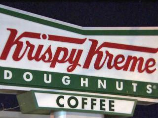 Dozens of people camped out overnight to get their hands on fresh Krispy Kreme doughnuts in Durham.