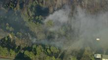 IMAGES: Johnston County brush fire under control