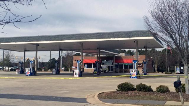 An employee of a Wake Forest gas station was taken to WakeMed early Saturday after being stabbed, according to police.