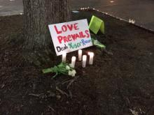 Thousands attended a vigil at UNC Wednesday night for three students - a UNC dental student, his wife and her sister - at a Durham County home Tuesday night. (Ken Smih/WRAL)