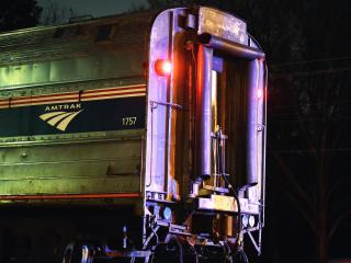 No one was hurt Wednesday night when a car was hit by an Amtrak train on Garner Road at Vandora Springs Road in Garner.