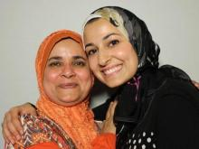 Yusor Abu-Salha with former teacher