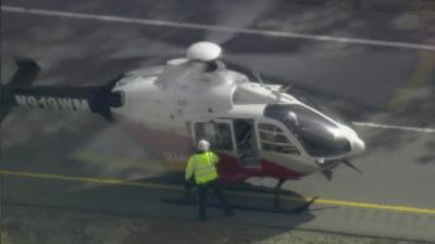 A driver injured in a crash on U.S. Highway 64 near Zebulon is flown by helicopter to WakeMed.