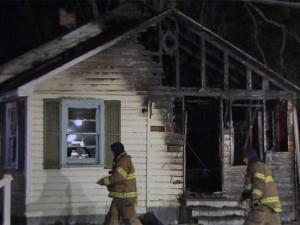 A man was severely burned early Friday after a portable kerosene heater sparked a fire inside a home in Fayetteville, city officials said.
