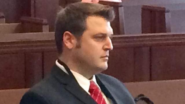 Josh Wheeless appeared in court Monday, March 9, 2015, to plead guilty to contributing to the delinquency of a minor.