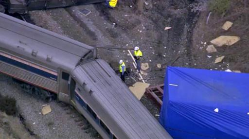 An Amtrak train derailed in Halifax County on March 9, 2015.