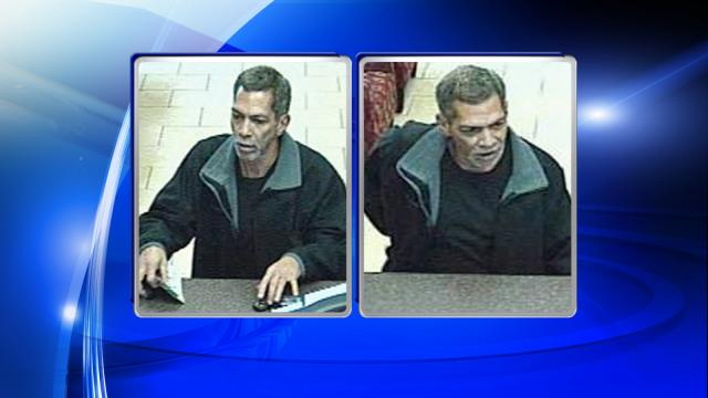 Raleigh police are looking for the man in these photos in connection with a March 9, 2015, robbery at Wells Fargo Bank, at 601 Oberlina Road.