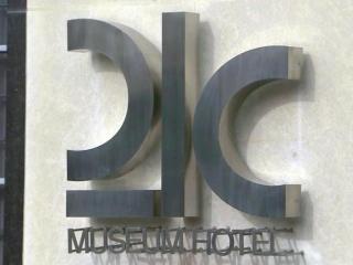 21c Museum Hotel sign in Durham