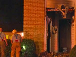 Firefighters battled an apartment fire at the former Cambridge Arms Apartments Monday night.