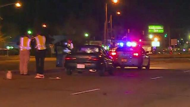 A pedestrian was in critical condition Monday night after they were hit by a car on Gillespie Street, Fayetteville police said.