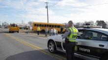 IMAGES: Johnston County school bus involved in wreck; several injuries reported