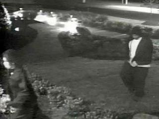 An image from a security camera shows two people Hillsborough police say might be connected to a series of break-ins at new homes.