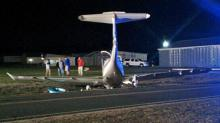 IMAGES: Pilot refuses medical treatment after Angier plane accident