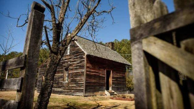 A reconstruction of the original farmhouse stands at Bennett Place, where Confederate Gen. Joseph E. Johnston and Union Gen. William T. Sherman met to sign surrender papers in April 1865. It was the largest troop surrender of the Civil War. The original house burned in 1921. (Fayetteville Observer staff photo by Andrew Craft)