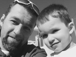 Anderson Almeida with his son Ryan, 3.
