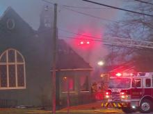 Fire damages Fayetteville church