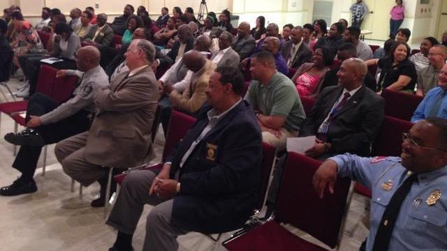 More than 50 people attended a forum at Shaw University Thursday night about how to interact with law enforcement. Sponsored by the Iota Iota Chapter of Omega Psi Phi Fraternity, Inc., the event was the second held by the organization to help residents understand how law enforcement works and for authorities to hear the community's views on policing.