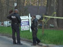 The body of a young woman was found by house hunters behind a home in the 4100 block of Trotter Ridge Road in Durham Saturday afternoon, police said.