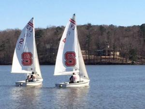 The North Carolina State University sailing team hosted the 2nd Annual Triangle Tango regatta Saturday at Lake Wheeler Park in Raleigh.