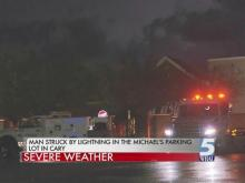 Angier man dies after lightning strike