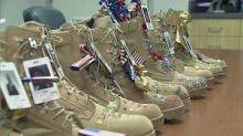 IMAGE: Families decorate boots in honor of lost service members