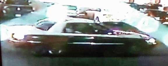 Authorities say an unidentified suspect may have been driving this car after a shooting early Saturday at the Knights Inn Hotel on Bragg Boulevard.