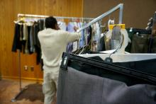 Ex-offenders in Fayetteville spent the day Wednesday searching for an outfit to wear to the first annual Re-entry Job and Resource Fair for Ex-Offenders.
